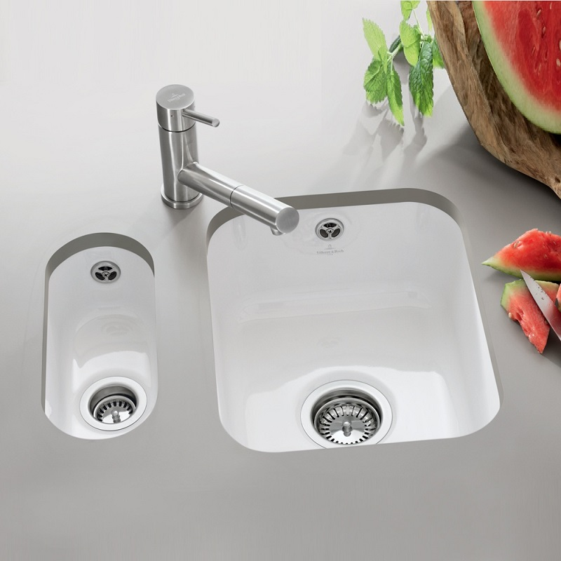 Villeroy And Boch Cisterna 45 Undermount Ceramic Kitchen Sink